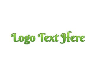 Green Girl - Gradient Green Wordmark logo design