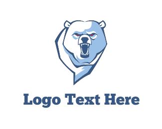 Football - Angry Bear logo design