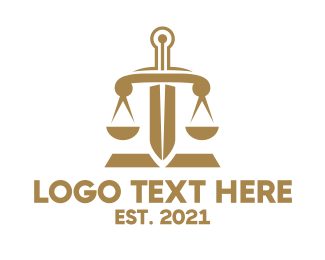 Attorney - Bronze Legal Sword logo design