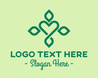 Environmentalist - Green Organic Wellness Heart logo design