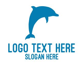 Dolphin - Blue Dolphin logo design