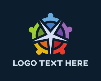 Diversity - Star Compass logo design