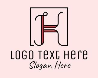 Fashion Accessories - Feminine Letter K  logo design