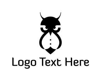 Black Tie - Fashion Owl logo design