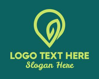 Location Pin - Green Location Pin logo design