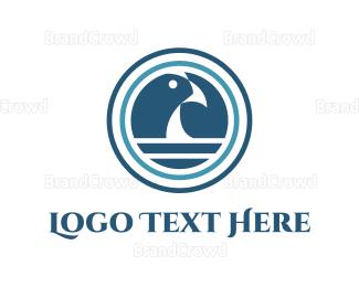 Sailing - Ocean & Blue Bird logo design