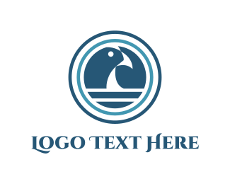 Consultant - Ocean & Blue Bird logo design