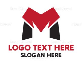 Edge - Red Black M Gaming  logo design