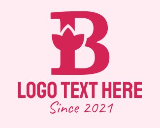 Alphabet - Violet B Flower logo design