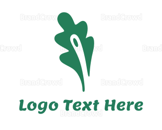 Biology - Green Fern Leaf logo design