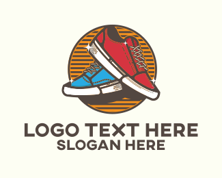 Shoe Store - Cool Vintage Sneakers logo design