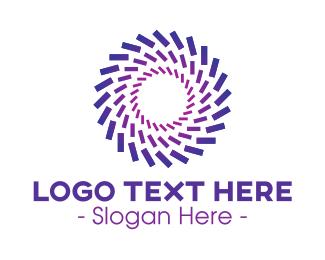 Bank - Purple Radial Company logo design