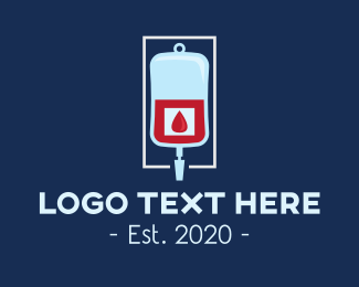 Surgery - Medical Blood Bag logo design