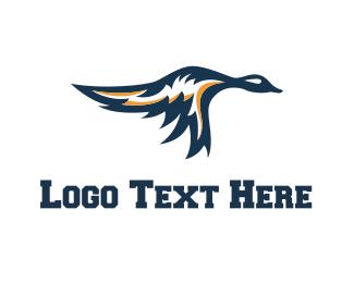 Baseball - Flying Duck logo design