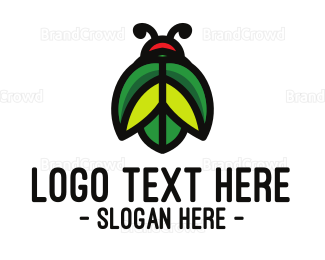 Beetle - Green Leaf Beetle logo design