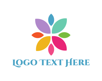 Dye - Colorful Petals logo design
