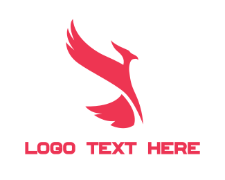 Hawk - Red Phoenix logo design