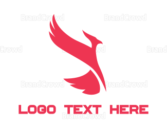 Aviary - Red Phoenix logo design