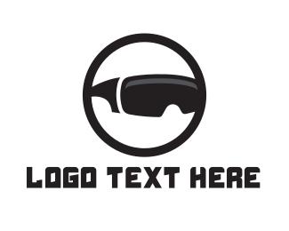Virtual Reality - Black Circle VR logo design