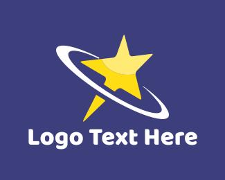 Outer Space - Shooting Star logo design