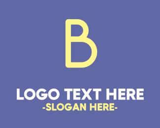 Nappy - Bold Cute Yellow  B logo design