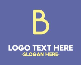 Bold Cute Yellow  B Logo