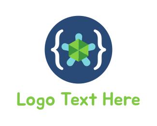 Parentheses - Turtle Code logo design