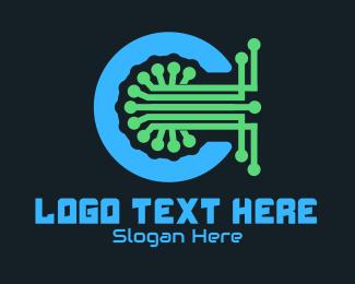 """""""Tech Circuit  Letter C """" by lazeefish"""