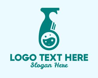 Disinfectant Spray - Liquid Disinfectant Bottle logo design