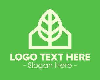 House - Eco House Home logo design