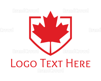 Canadian - Red Canadian Shield logo design