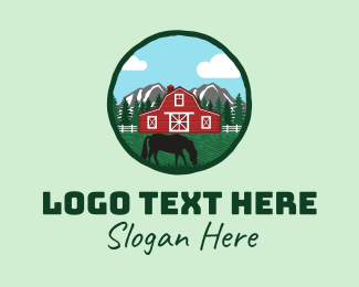 Stud - Horse Barn House  logo design