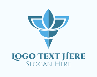 Seashell - Elegant Blue Shell logo design