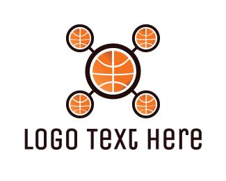 Basketball Drone Logo
