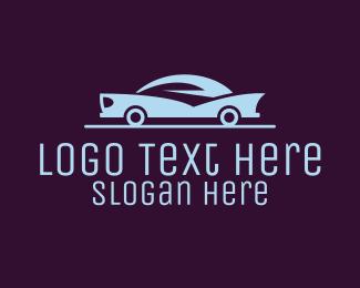 Stylish - Stylish Blue Car logo design