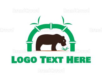 Bamboo - Bear Park logo design