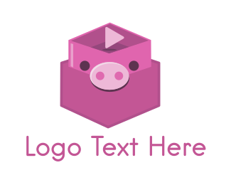 Cardboard - Pig Box logo design