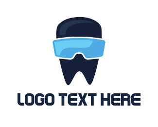Vr - Tooth VR  logo design