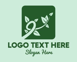 Vine - Gree Vine Leaves logo design