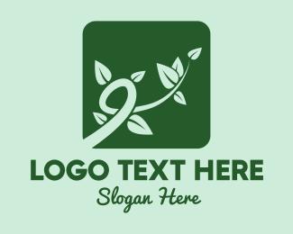 Leaves - Gree Vine Leaves logo design
