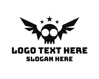 Bone - Bat Skull logo design