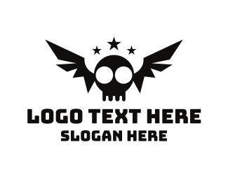 Tattoo - Bat Skull logo design