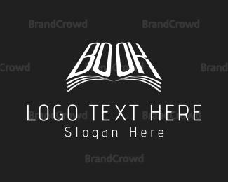 Bookshop - White Book  logo design
