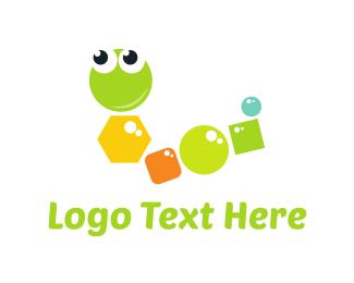 Worm - Geometric Worm logo design