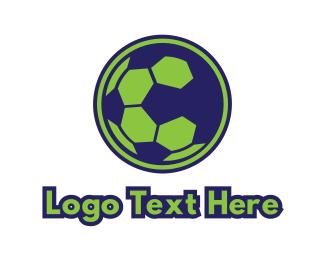 World Cup - Blue Green Football logo design