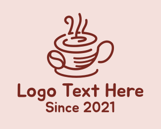 Hot Chocolate - Hot Coffee Cup logo design