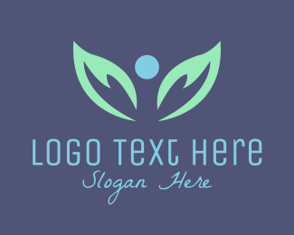 Heaven - Leaves Angel logo design