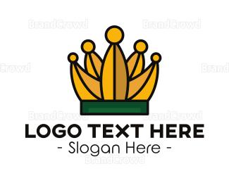 Banana - Tropical Banana Crown logo design