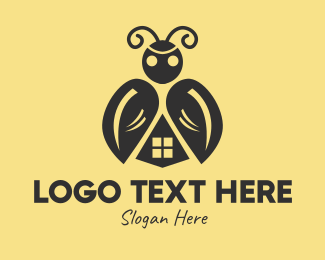 Pesticide - Black Beetle Home  logo design