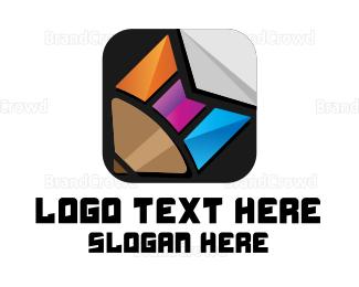 Multicolor - Multicolor Pencil Tab logo design